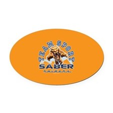 Ice Age Diego Saber Raider Oval Car Magnet