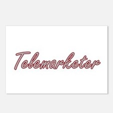Telemarketer Artistic Job Postcards (Package of 8)