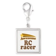 Awesome RC Racer Silver Square Charm