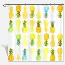 Pineapple Glow, Shower Curtain