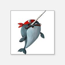 "Cute To arr is pirate Square Sticker 3"" x 3"""