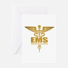 EMS gold Greeting Cards