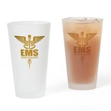 EMS gold Drinking Glass