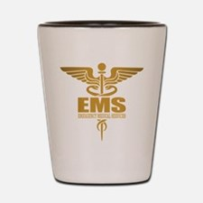 EMS gold Shot Glass