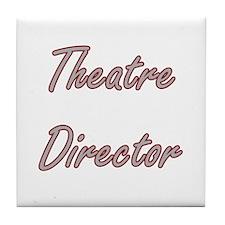 Theatre Director Artistic Job Design Tile Coaster