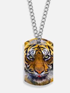 Tiger Portrait Dog Tags