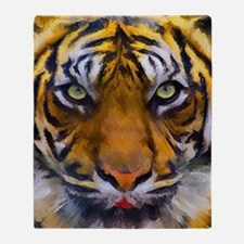 Tiger Portrait Throw Blanket