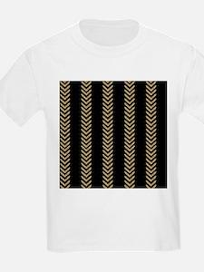 Black Gold Chevron Arrows T-Shirt