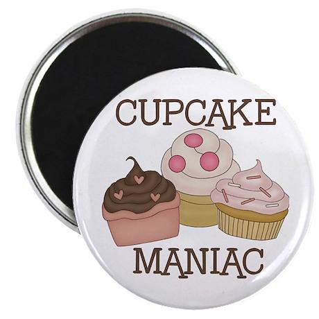 "Cupcake Maniac 2.25"" Magnet (10 pack)"
