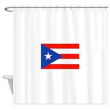 Boricua Bandera Puerto Rican Orgull Shower Curtain