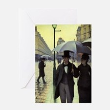 Paris Street, Rainy Day by Gustave Greeting Cards