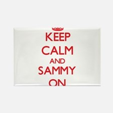Keep Calm and Sammy ON Magnets