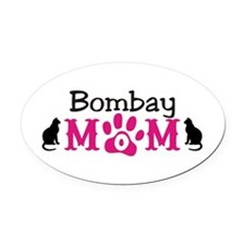 Bombay Mom Oval Car Magnet