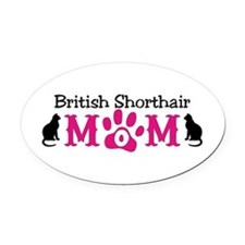 British Shorthair Mom Oval Car Magnet