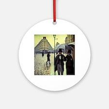 Paris Street, Rainy Day by Gustav Ornament (Round)