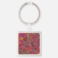 Flowers and Such! Square Keychain