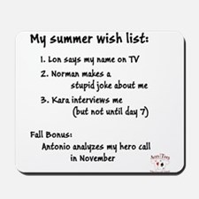 Summer Wish List Mousepad