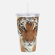 Snow Tiger Acrylic Double-wall Tumbler