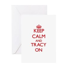 Keep Calm and Tracy ON Greeting Cards