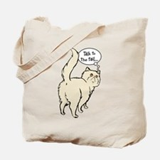 Cream Persian Tail Talk Tote Bag