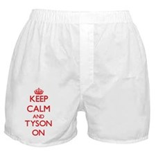Keep Calm and Tyson ON Boxer Shorts