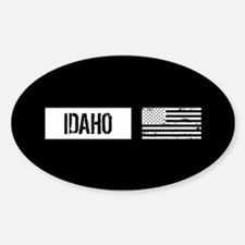 U.S. Flag: Idaho Sticker (Oval)