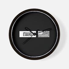 U.S. Flag: Idaho Wall Clock
