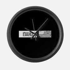 U.S. Flag: Idaho Large Wall Clock