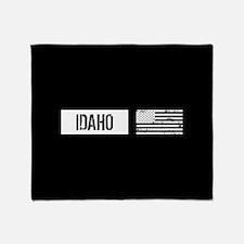 U.S. Flag: Idaho Throw Blanket