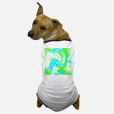 neon turquoise green swirls Dog T-Shirt