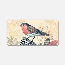 Beautiful Bird Aluminum License Plate