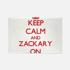 Keep Calm and Zackary ON Magnets