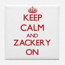 Keep Calm and Zackery ON Tile Coaster