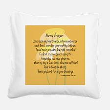 Nurse Prayer Square Canvas Pillow