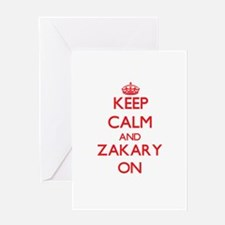 Keep Calm and Zakary ON Greeting Cards