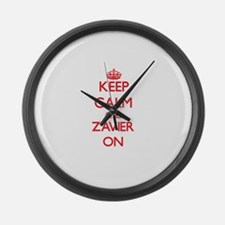 Keep Calm and Zavier ON Large Wall Clock
