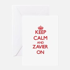Keep Calm and Zavier ON Greeting Cards