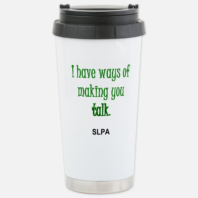 Cute Speech language pathologist joke Travel Mug
