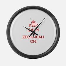 Keep Calm and Zechariah ON Large Wall Clock