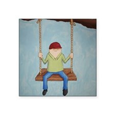 """Just Hangin' Out Square Sticker 3"""" x 3"""""""