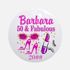 50TH FABULOUS Ornament (Round)