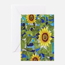 Country Sunflowers Greeting Cards