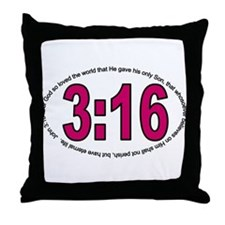 Three Sixteen Throw Pillow