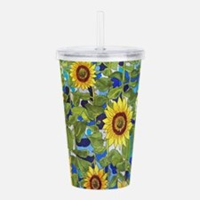 Country Sunflowers Acrylic Double-wall Tumbler
