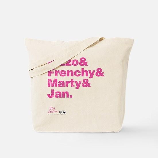 Pink Names Tote Bag