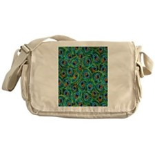 Pretty Peacock Feathers Messenger Bag