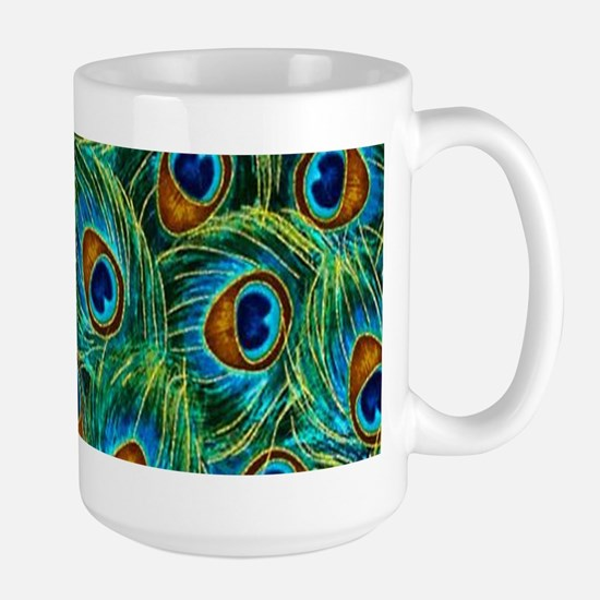 Pretty Peacock Feathers Mugs