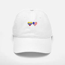 Venezuelan American Hearts Baseball Baseball Baseball Cap