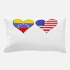 Venezuelan American Hearts Pillow Case