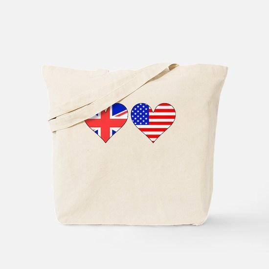 British American Hearts Tote Bag